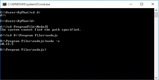 show nodejs version in cmd
