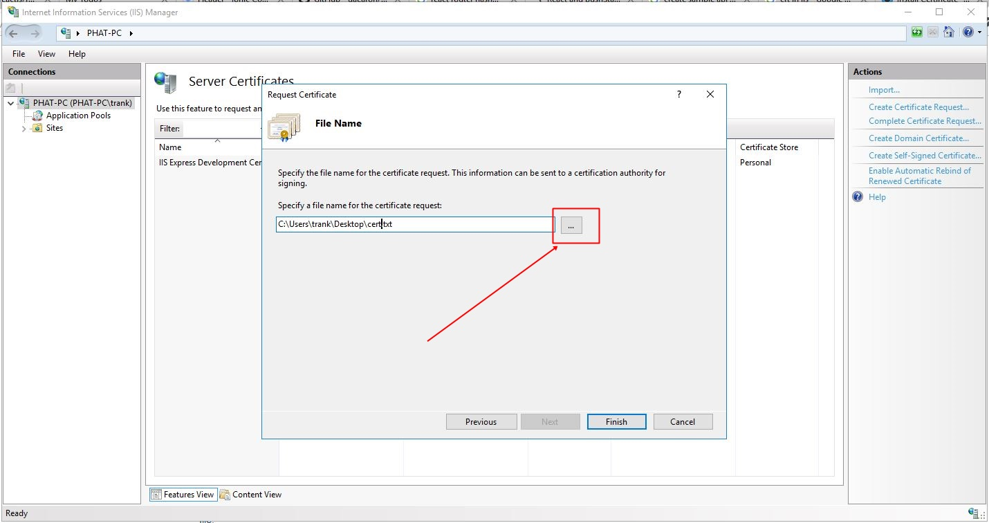 All about ssl with windows iis and asp site trn k pht 7 your csr will now be saved to the location you selected in the file you named when you request a certificate in the future you will need the information xflitez Images